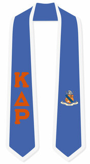 DISCOUNT-Kappa Delta Rho Greek 2 Tone Lettered Graduation Sash Stole