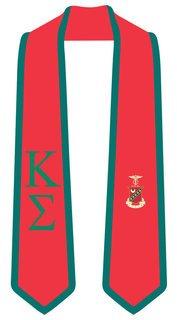 DISCOUNT-Kappa Sigma Greek 2 Tone Lettered Graduation Sash Stole