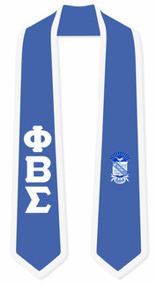 DISCOUNT-Phi Beta Sigma Greek 2 Tone Lettered Graduation Sash Stole