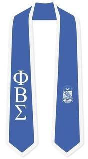 DISCOUNT-Phi Beta Sigma Greek 2 Tone Lettered Graduation Sash Stole