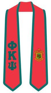 DISCOUNT-Phi Kappa Psi Greek 2 Tone Lettered Graduation Sash Stole
