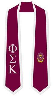 DISCOUNT-Phi Sigma Kappa Greek 2 Tone Lettered Graduation Sash Stole