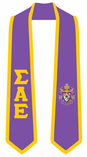 DISCOUNT-Sigma Alpha Epsilon Greek 2 Tone Lettered Graduation Sash Stole