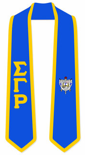 DISCOUNT-Sigma Gamma Rho Greek 2 Tone Lettered Graduation Sash Stole