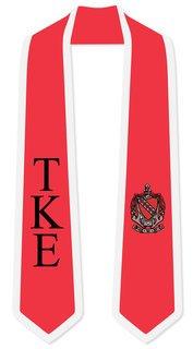 DISCOUNT-Tau Kappa Epsilon Greek 2 Tone Lettered Graduation Sash Stole