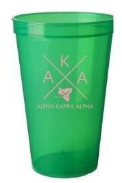 BULK DEAL - Alpha Kappa Alpha Big Plastic Stadium Cups (Set of 10)