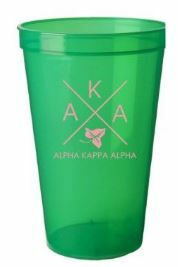 BULK DEAL - Alpha Kappa Alpha Big Plastic Stadium Cups (Set of 10)