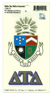 Delta Tau Delta Crest - Shield Decal