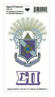 Sigma Pi Crest - Shield Decal