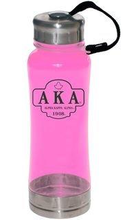 Alpha Kappa Alpha Water Bottle W/Carabiner Hook