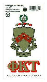 Phi Kappa Tau Crest - Shield Decal