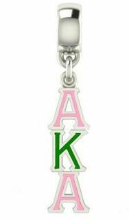 Alpha Kappa Alpha Color Filled Stainless Lavaliere Necklace - ON SALE!