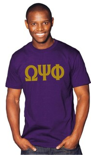 Omega Psi Phi Greek Lettered Shirt