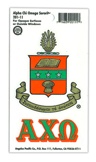 Alpha Chi Omega Crest - Shield Decals