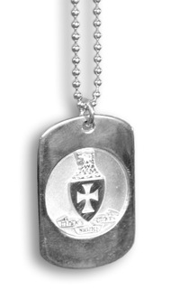 Sterling Silver Sigma Chi Dog Tag