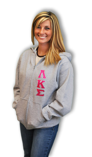 Fraternity & Sorority Full Zip Lettered Hoodie