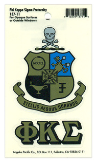 Phi Kappa Sigma Crest - Shield Decal