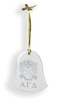 Alpha Gamma Delta Glass Bell Ornaments