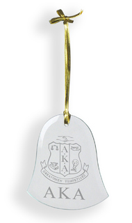 Alpha Kappa Alpha Glass Bell Ornaments