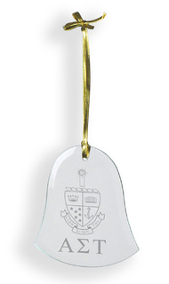 Alpha Sigma Tau Glass Bell Ornaments