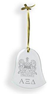 Alpha Xi Delta Glass Bell Ornaments
