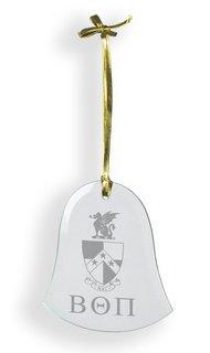 Beta Theta Pi Glass Bell Ornaments