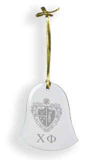 Chi Phi Glass Bell Ornaments
