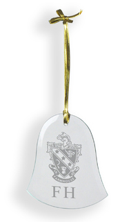FarmHouse Fraternity Glass Bell Ornaments