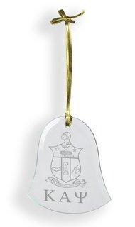 Kappa Alpha Psi Glass Bell Ornaments
