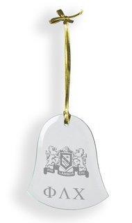 Phi Lambda Chi Glass Bell Ornaments