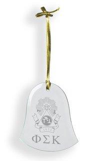 Phi Sigma Kappa Glass Bell Ornaments