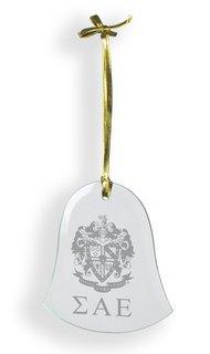 Sigma Alpha Epsilon Glass Bell Ornaments