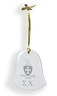 Sigma Chi Glass Bell Ornaments