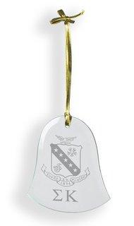 Sigma Kappa Glass Bell Ornaments