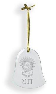 Sigma Pi Glass Bell Ornaments