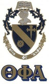 Theta Phi Alpha Crest - Shield Decals