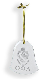 Theta Phi Alpha Glass Bell Ornaments