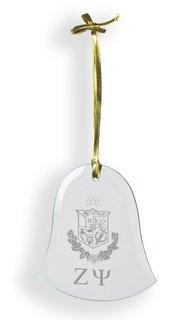 Zeta Psi Glass Bell Ornaments