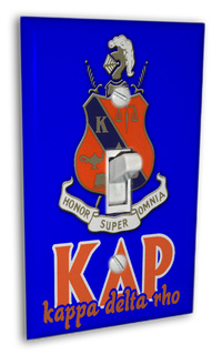 Kappa Delta Rho Light Switch Cover