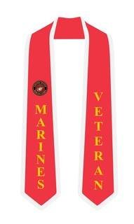 USMC (Marine Corp) Graduation 2 Tone Sash Stole