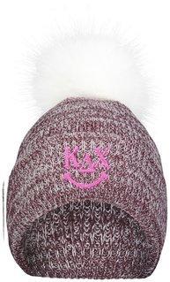 Kappa Delta Chi Smiley Faux Fur Pom Beanie
