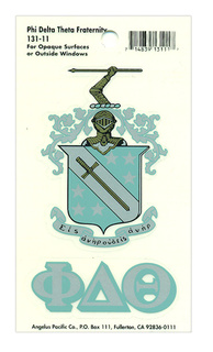 Phi Delta Theta Crest - Shield Decal