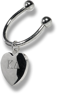 Sorority Heart Key Ring