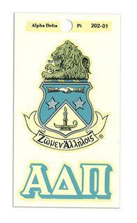 Alpha Delta Pi Crest - Shield Decals