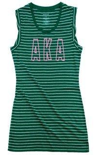 Alpha Kappa Alpha Striped Tee Dress