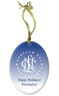National Charity League Holiday Color Glass Ornament