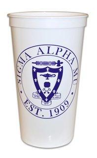 CLOSEOUT Sigma Alpha Mu Big Plastic Stadium Cup - 10 FOR $10!