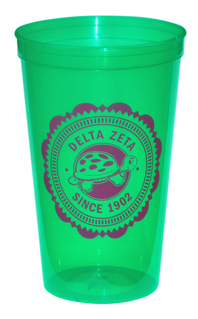 Delta Zeta Old Style Classic Giant Plastic Cup