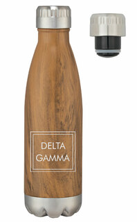 Delta Gamma Sorority Swig Stainless Steel Woodtone Bottle