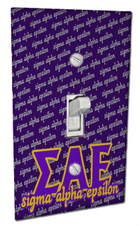 Sigma Alpha Epsilon Light Switch Cover